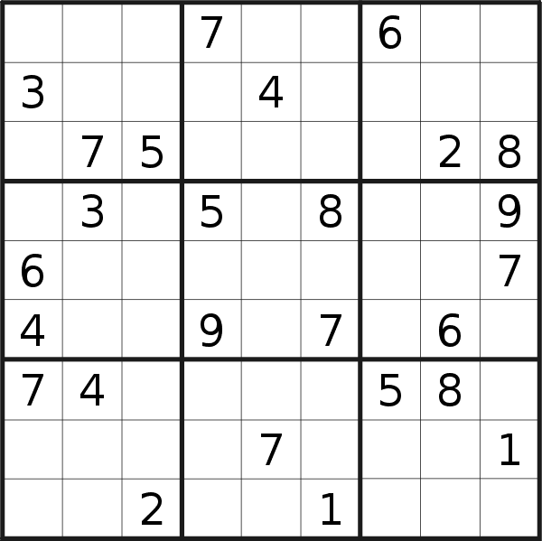 It is a picture of Bright Daily Sudoku Printable