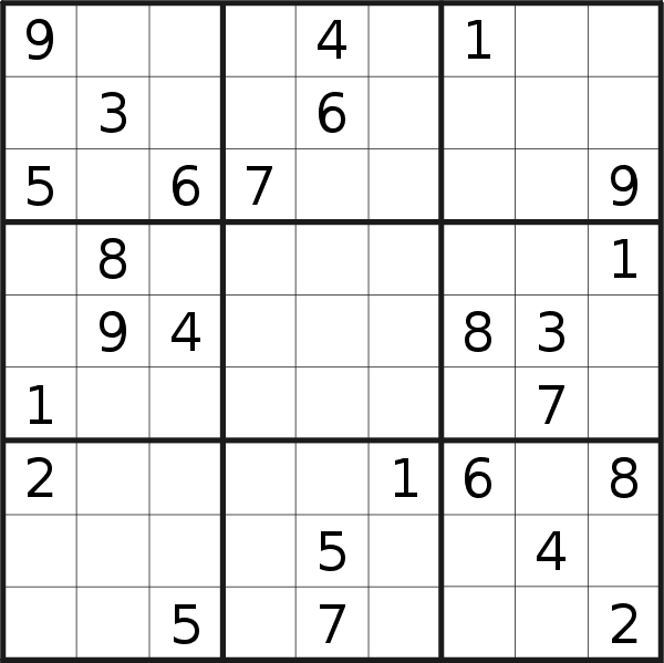 This is a picture of Soft Daily Sudoku Printable