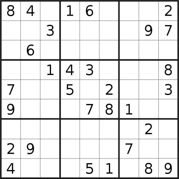 Sudoku puzzle for Tuesday, 11th of July 2017