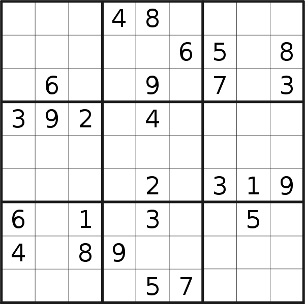Sudoku puzzle for Saturday, 15th of July 2017