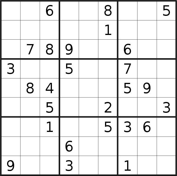 Sudoku puzzle for Monday, 4th of December 2017