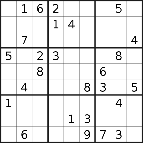 Sudoku puzzle for <br />Tuesday, 9th of January 2018