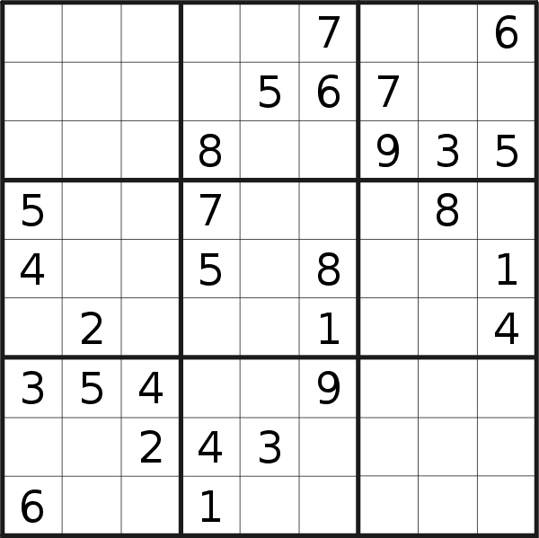 Sudoku puzzle for <br />Saturday, 12th of May 2018