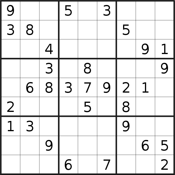Sudoku puzzle for <br />Wednesday, 30th of January 2019