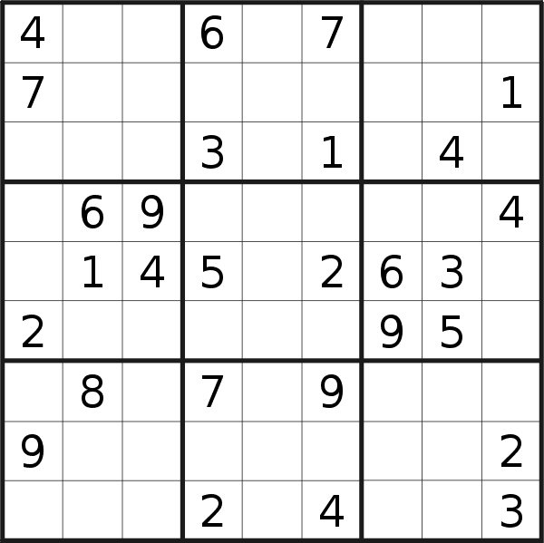 Sudoku puzzle for <br />Sunday, 24th of February 2019