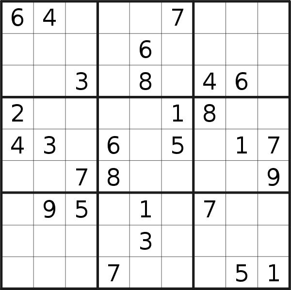 Sudoku puzzle for <br />Friday, 22nd of March 2019