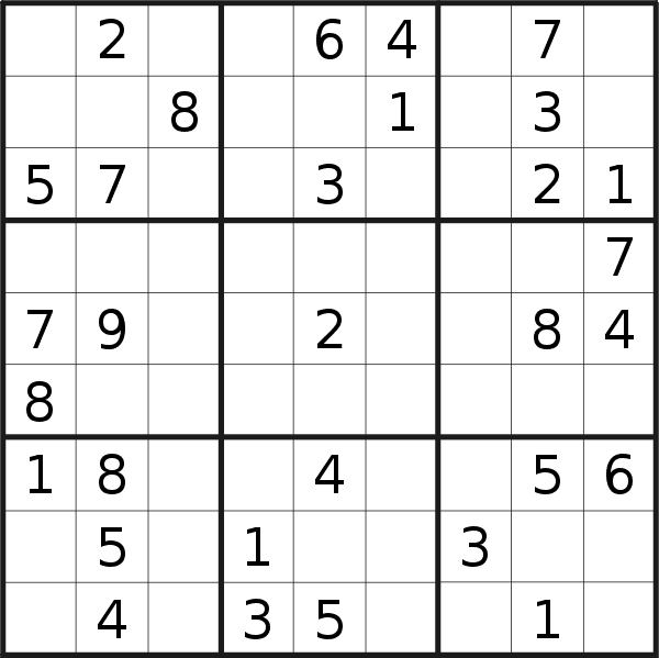 Sudoku puzzle for <br />Saturday, 6th of April 2019