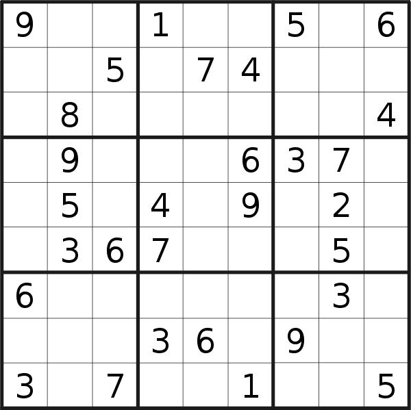 Sudoku puzzle for <br />Wednesday, 10th of April 2019