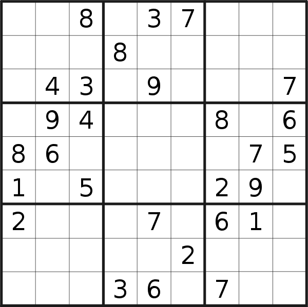 Sudoku puzzle for <br />Friday, 19th of April 2019
