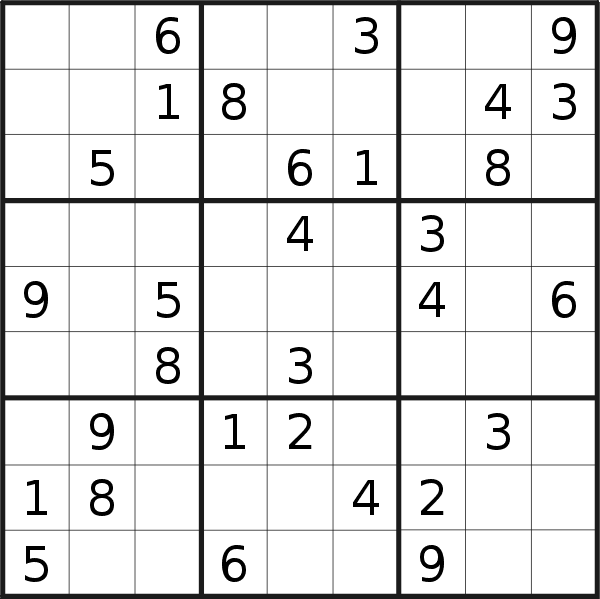 Sudoku puzzle for <br />Saturday, 20th of April 2019