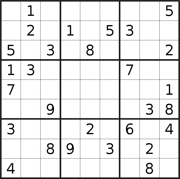 Sudoku puzzle for <br />Sunday, 28th of April 2019