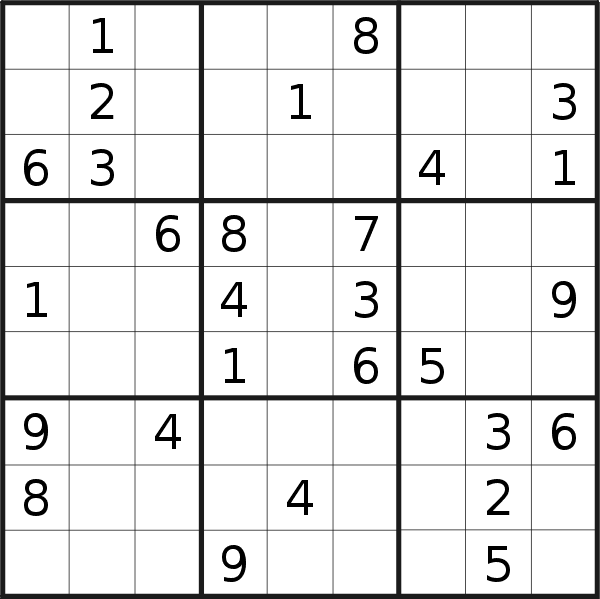 Sudoku puzzle for <br />Monday, 29th of April 2019