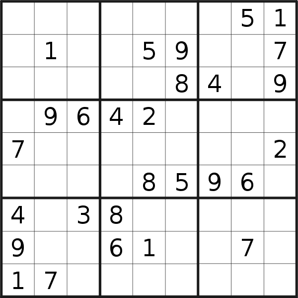 Sudoku puzzle for <br />Tuesday, 30th of April 2019