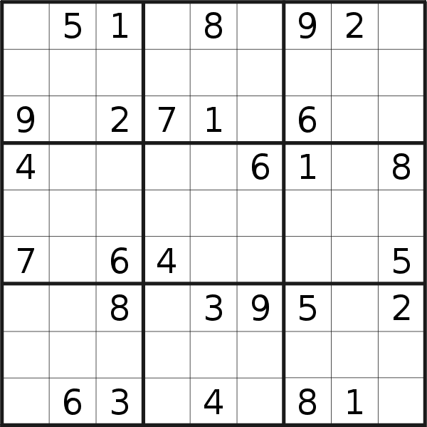 Sudoku puzzle for <br />Saturday, 4th of May 2019