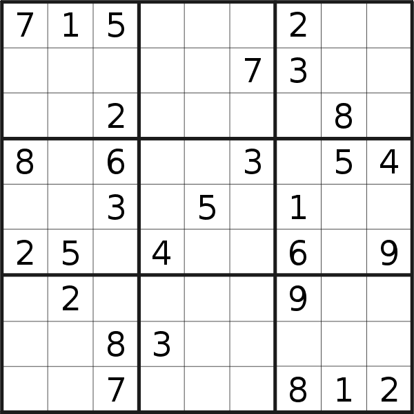 Sudoku puzzle for <br />Wednesday, 8th of May 2019