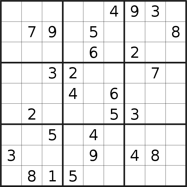 Sudoku puzzle for <br />Saturday, 25th of May 2019