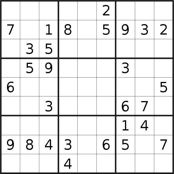 Sudoku puzzle for <br />Wednesday, 5th of June 2019