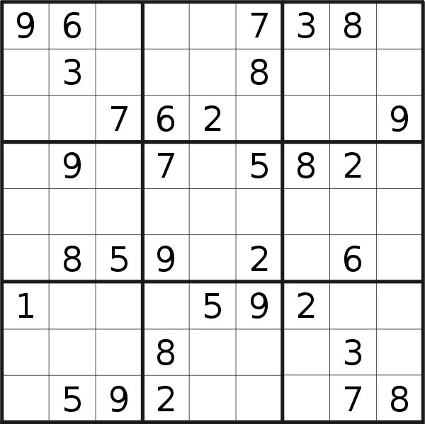 Sudoku puzzle for <br />Friday, 5th of July 2019