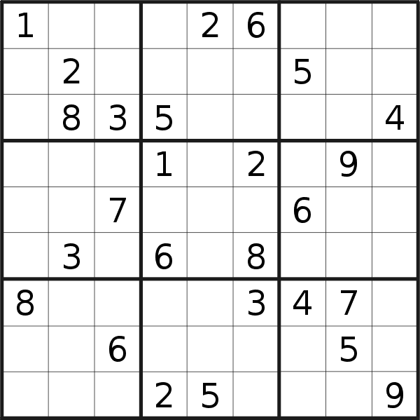 Sudoku puzzle for <br />Thursday, 11th of July 2019