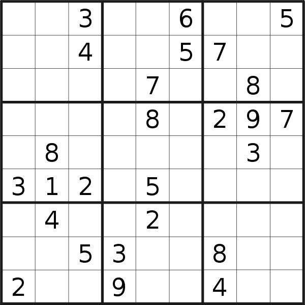Sudoku puzzle for <br />Friday, 19th of July 2019