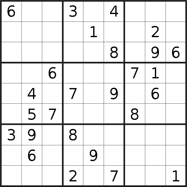 Sudoku puzzle for <br />Wednesday, 24th of July 2019