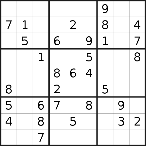 Sudoku puzzle for <br />Friday, 26th of July 2019
