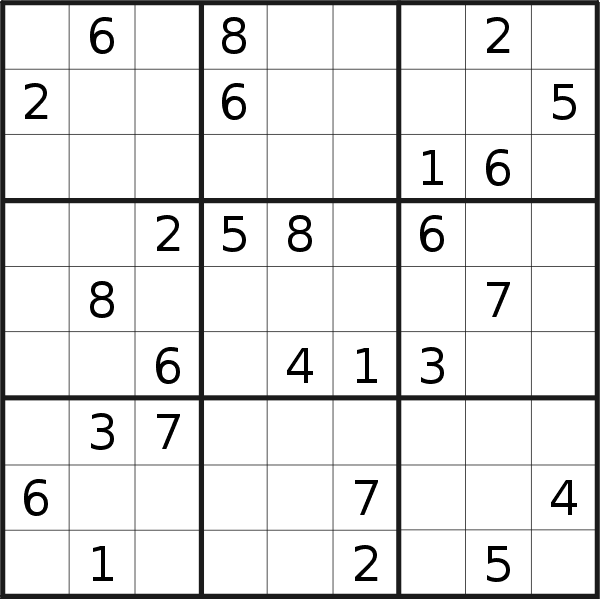 Sudoku puzzle for <br />Tuesday, 30th of July 2019