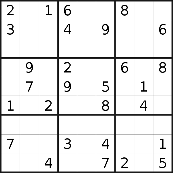 Sudoku puzzle for <br />Friday, 30th of August 2019