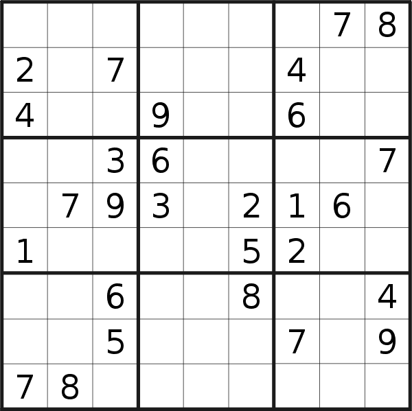 Sudoku puzzle for <br />Monday, 2nd of September 2019