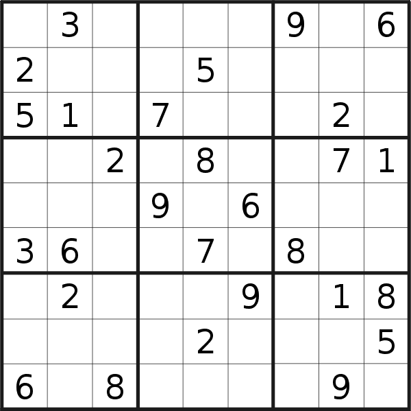 Sudoku puzzle for <br />Thursday, 19th of September 2019