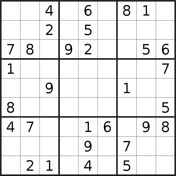 Sudoku puzzle for <br />Friday, 20th of September 2019