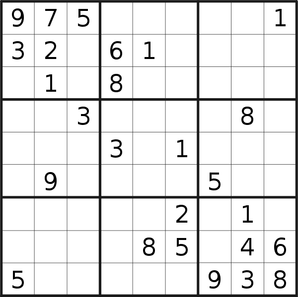 Sudoku puzzle for <br />Tuesday, 24th of September 2019
