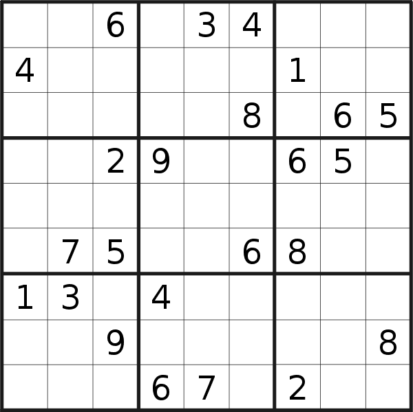 Sudoku puzzle for <br />Saturday, 28th of September 2019