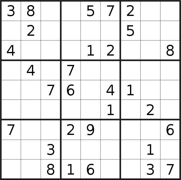 Sudoku puzzle for <br />Monday, 21st of October 2019