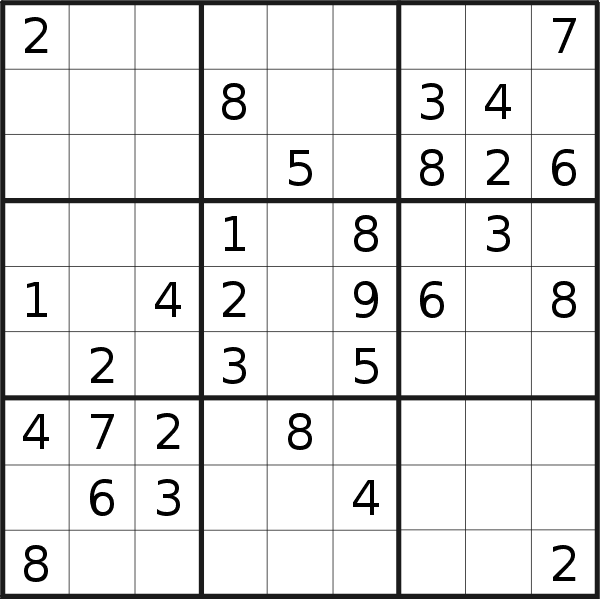 Sudoku puzzle for <br />Thursday, 21st of November 2019