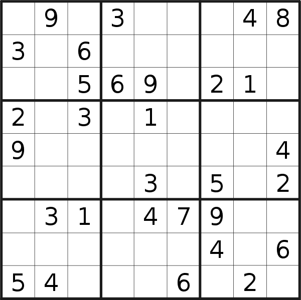 Sudoku puzzle for <br />Sunday, 24th of November 2019