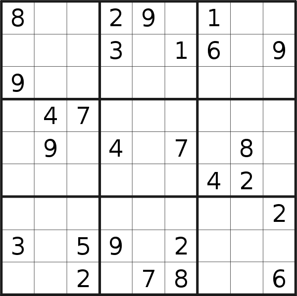 Sudoku puzzle for <br />Tuesday, 3rd of December 2019