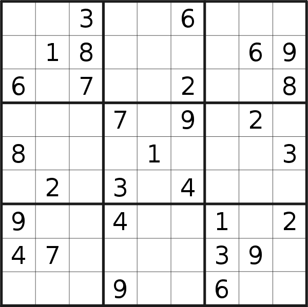 Sudoku puzzle for <br />Thursday, 2nd of January 2020