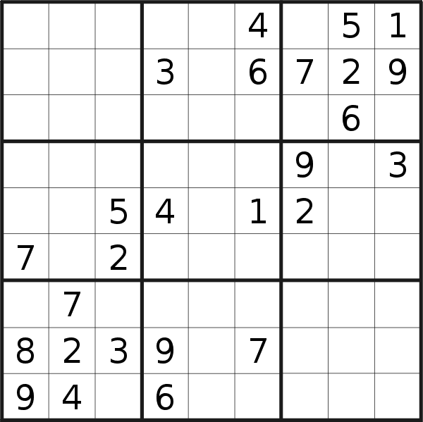 Sudoku puzzle for <br />Tuesday, 7th of January 2020