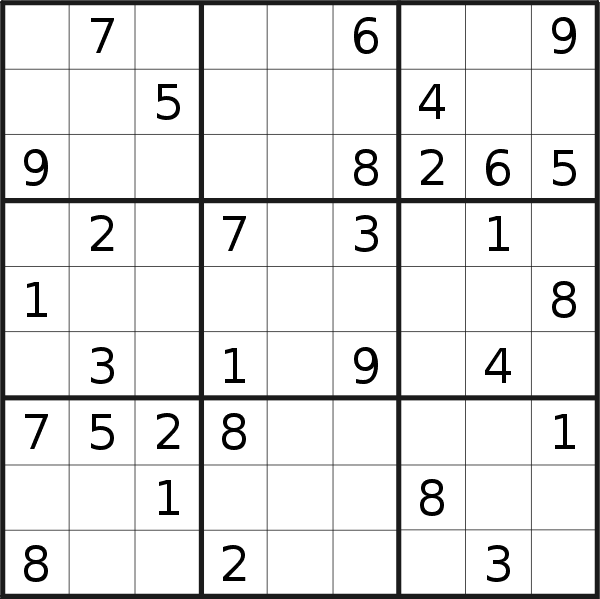 Sudoku puzzle for <br />Tuesday, 14th of January 2020
