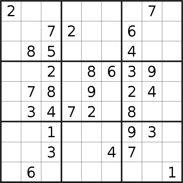 Sudoku puzzle for <br />Thursday, 30th of January 2020