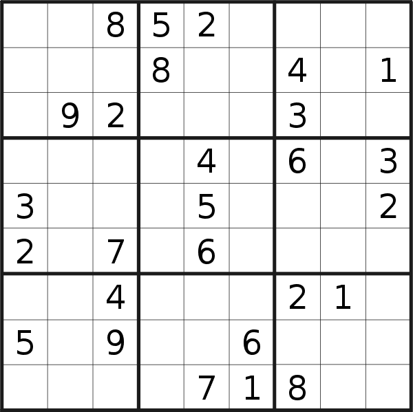 Sudoku puzzle for <br />Saturday, 1st of February 2020