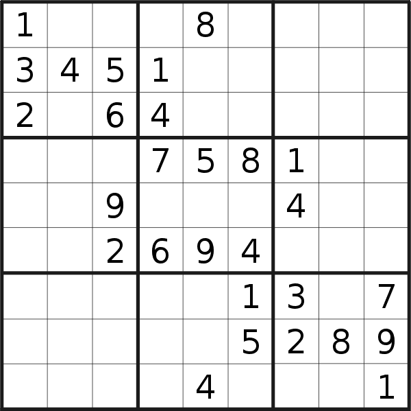 Sudoku puzzle for <br />Tuesday, 4th of February 2020
