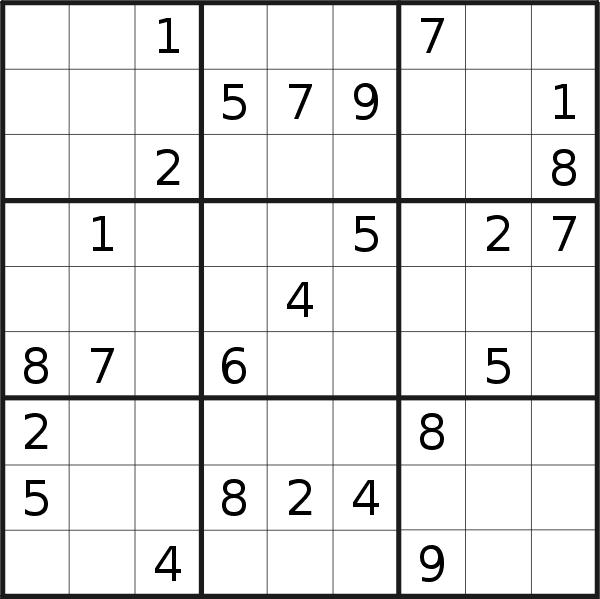 Sudoku puzzle for <br />Friday, 14th of February 2020