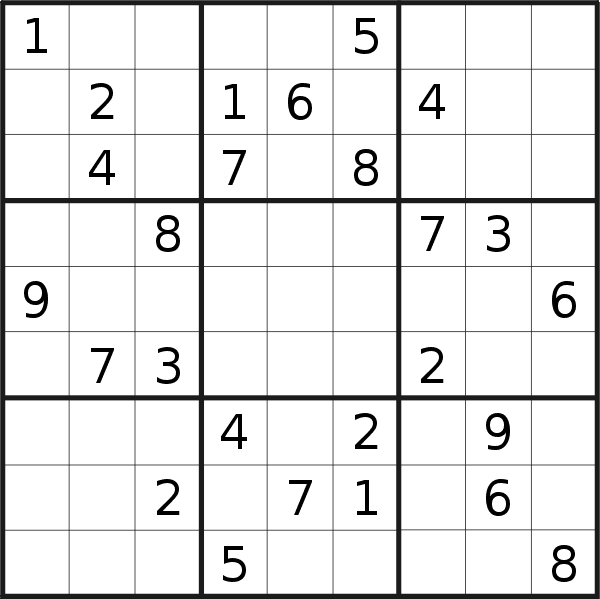 Sudoku puzzle for <br />Tuesday, 18th of February 2020