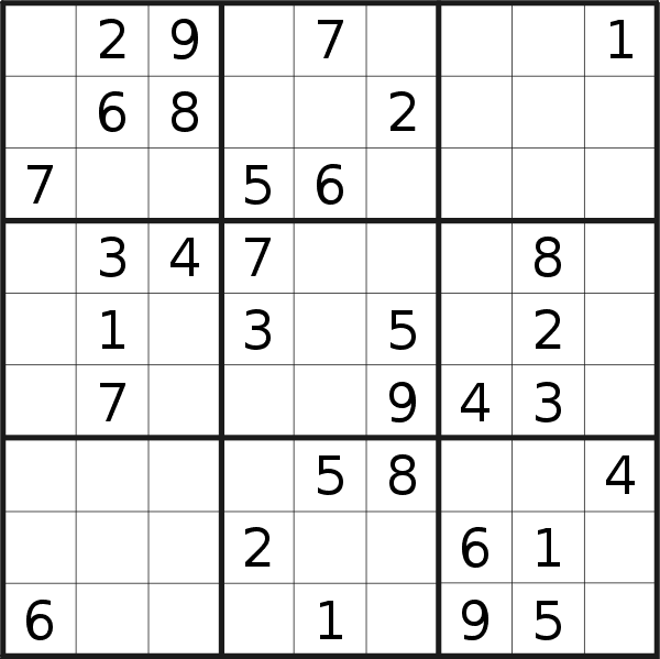 Sudoku puzzle for <br />Friday, 21st of February 2020