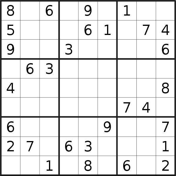 Sudoku puzzle for <br />Wednesday, 4th of March 2020