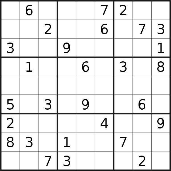 Sudoku puzzle for <br />Friday, 20th of March 2020