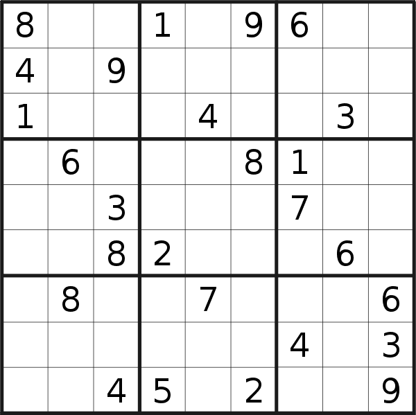 Sudoku puzzle for <br />Thursday, 2nd of April 2020