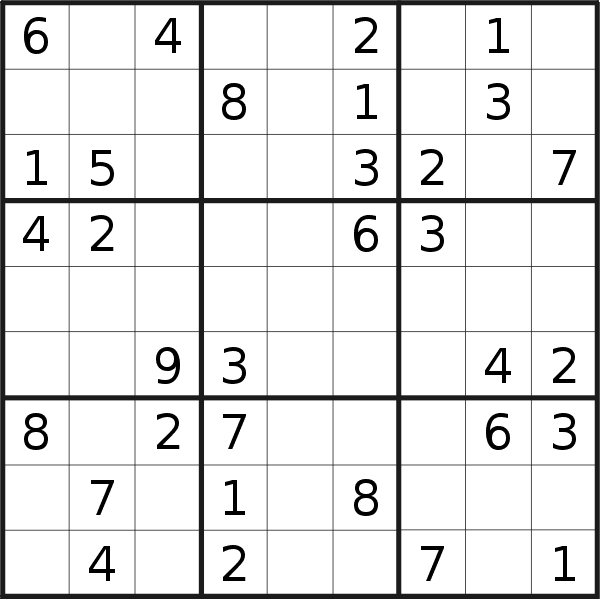 Sudoku puzzle for <br />Wednesday, 8th of April 2020
